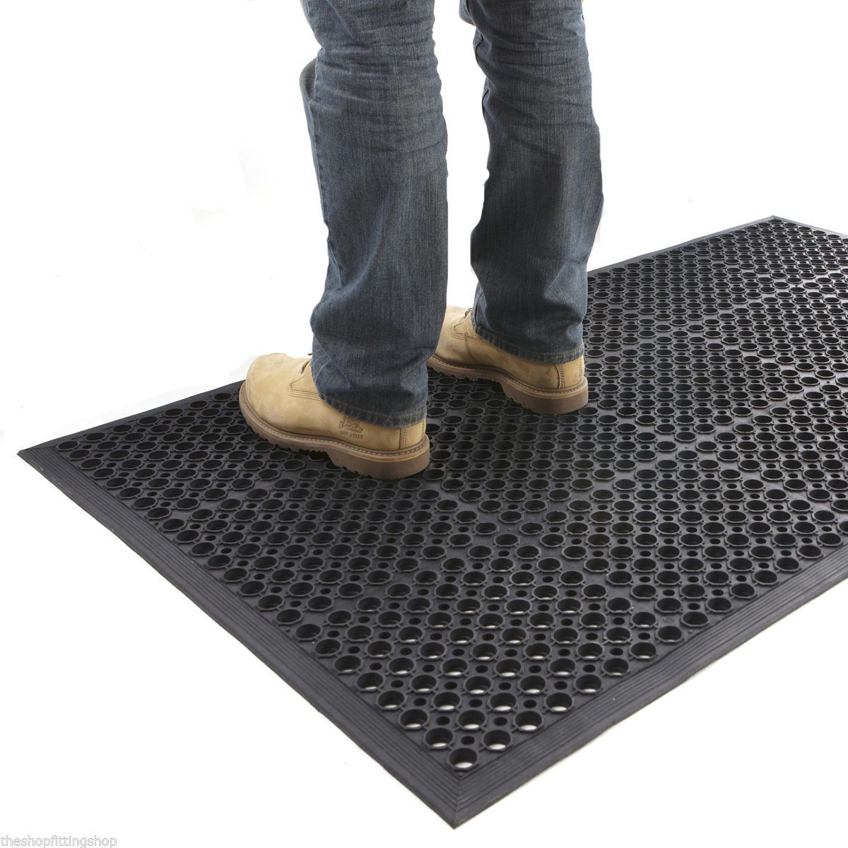 Large Anti Fatigue Indoor / Outdoor Rubber Entrance Mat ...