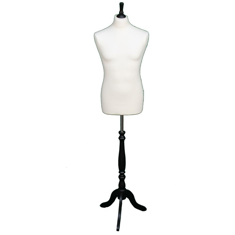 DELUXE FEMALE SIZE 18 Dressmakers Dummy Mannequin Tailor BLACK Bust ROSE Stand