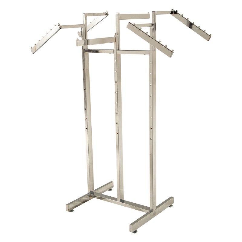 2 Way Straight Arm Clothes Rail Heavy Duty Shop Display Garment Hanging Rack New