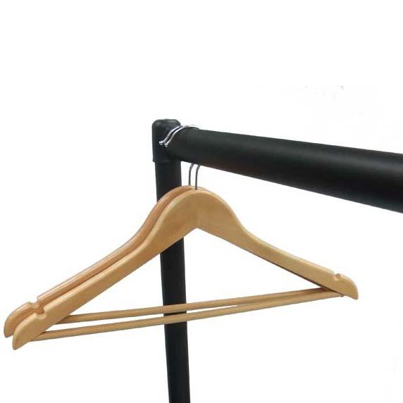 """5ft Heavy Duty Reinforced Clothes Garment Hanging Rail /& 4 x 4"""" Rubber Castors"""