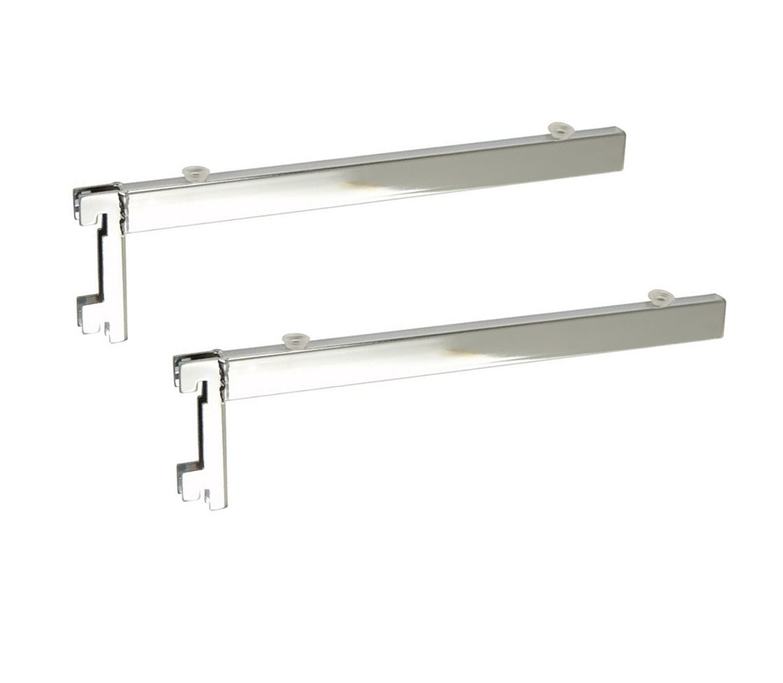 Twin Slot Pair Of Glass Shelf Brackets Spur Fit