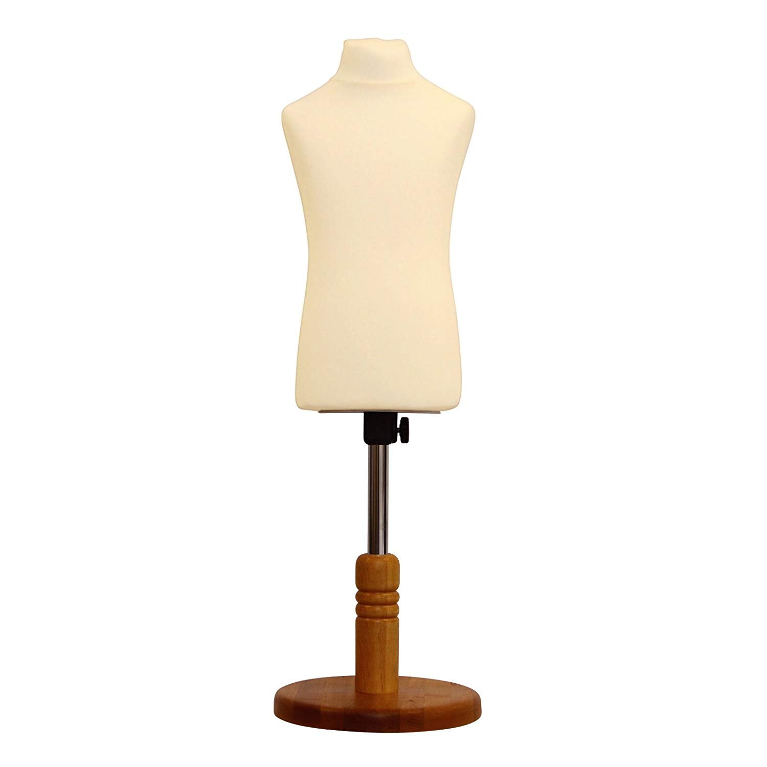 The Shopfitting Shop DELUXE Size 8 Female Dressmakers Dummy Tailors Mannequin Bust CREAM Jersey WHITE WOOD Tripod Stand